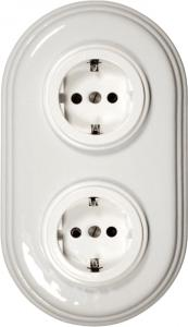 Fontini Outlet - White porcelain/plastics 2 element frame