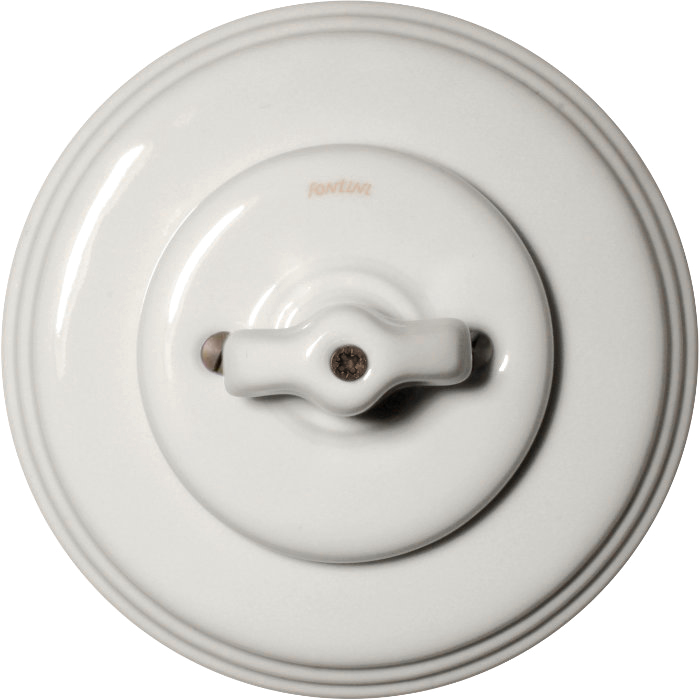 Fontini white porcelain - Rotary switch multi-circuit