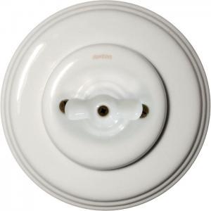 Fontini rotary switch - White porcelain white knob