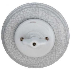 Lysbryter - Trappekobling (vribryter) krakelert porselen