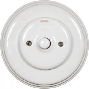 Dimmer Fontini - White porcelain push button
