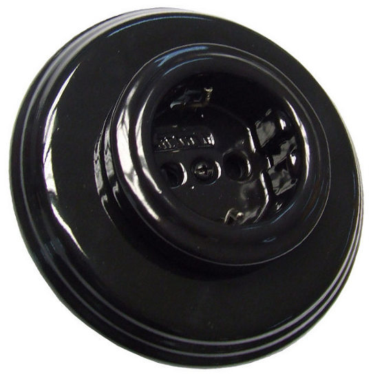 Outlet - Black porcelain 1 element frame Fontini