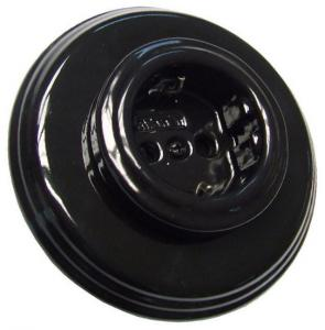 Outlet - Black porcelain 1 element frame Fontini - old style - old fashioned style - vintage interior - oldschool