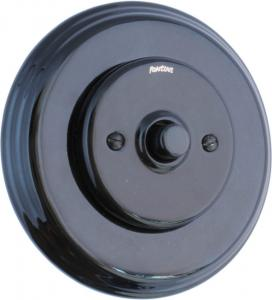 Dimmer Fontini - Black porcelain push button