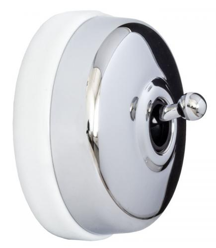 Two-Way Switch - Chrome White porcelain