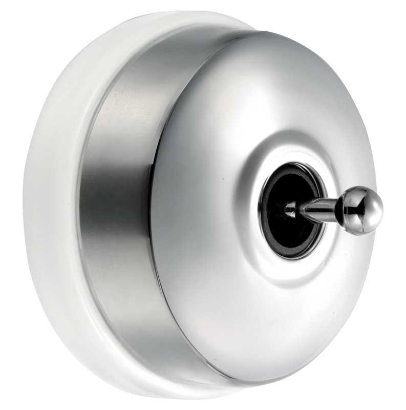 Two-Way Switch - Chrome White porcelain