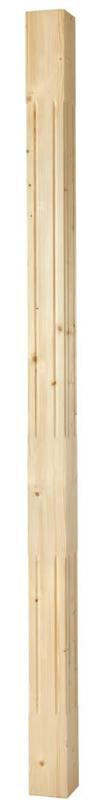 Wood grooved column - 2500 x 130 mm