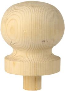 Newel post top ball - 90 x 80 mm - oldschool style - old fashioned interior - vintage style