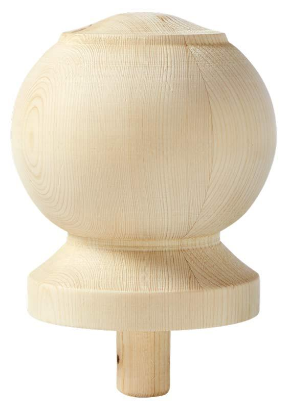 Newel post top ball - 140 x 110 mm