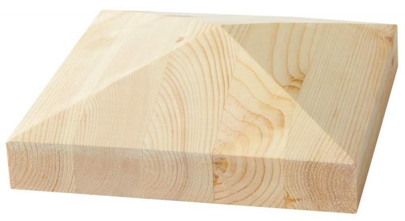 Ändknopp till räcke - Pyramidlock 190 x 190 mm - sekelskifte - gammaldags stil - klassisk inredning - gammal stil