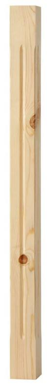 Stair baluster - 900 x 65 mm pinewood