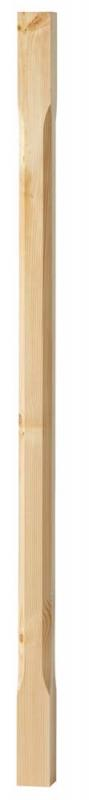 Stair baluster - Bevelled edge 910 x 40 mm pinewood - old fashioned - old style - vintage interior - retro - classic interior