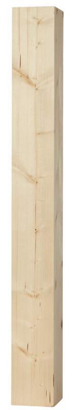 Wood post - Square pillar 130 x 130 x 1180 mm fir
