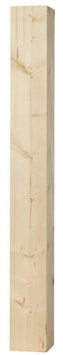 Wood post - Square pillar 130 x 130 x 1180 mm fir