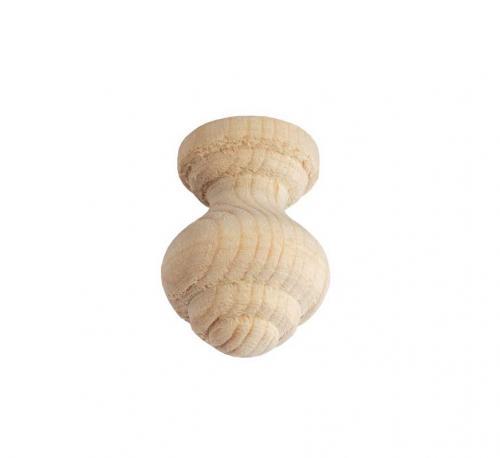 Träknopp - Svarvad Liten 20 mm