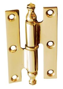 Bar Hinge - Brass 80 x 50 mm - old style - classic interior - old fashioned