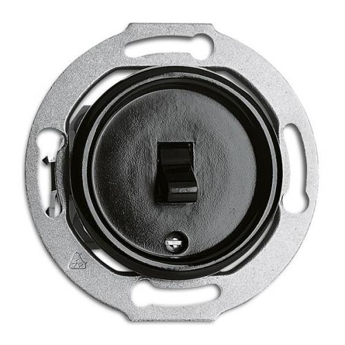 Switch round bakelite without frame - Toggle intermediate switch