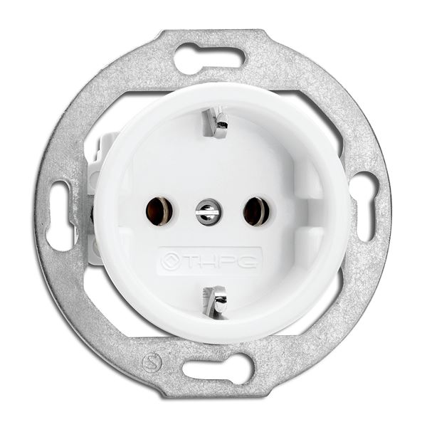 Socket Outlet  - Single porcelain - old style - classic interior - oldschool style