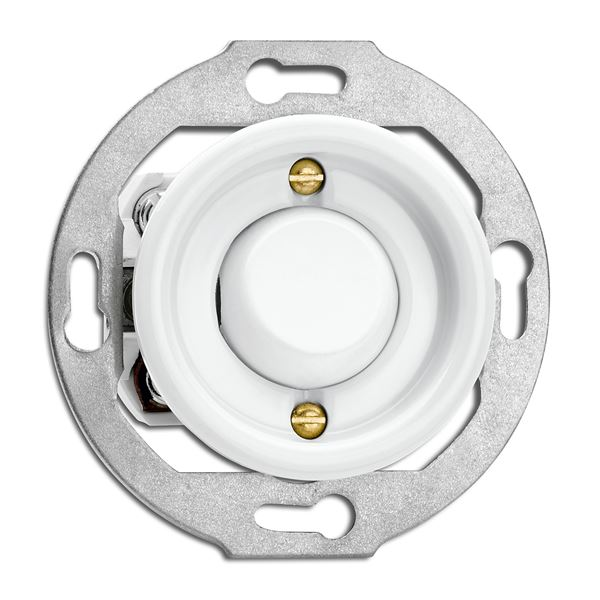 Switch round porcelain without frame- Toggle switch alternation - old fashioned style - classic interior - oldschool