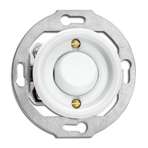 Switch round porcelain without frame - Toggle intermediate switch