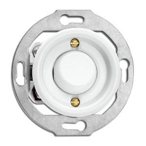 Switch round porcelain without frame - Toggle switch crossbar - old style - vintage style - classic interior