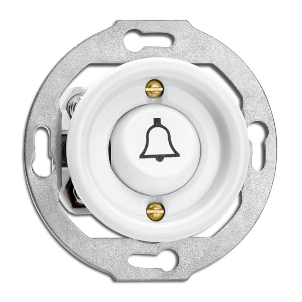 Switch round without frame - Door bell rocker button - old fashioned style - classic interior - retro