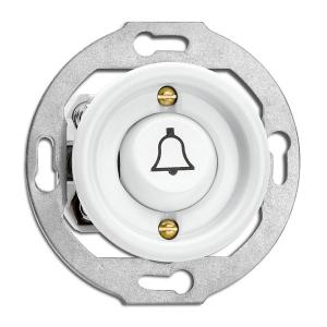 Switch round without frame - Door bell rocker button