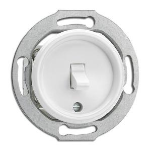 Switch round duroplast without frame - Toggle intermediate switch