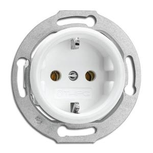Outlet - Single in duroplast without frame
