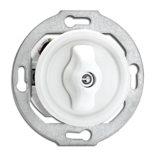 Switch round porcelain without frame - Rotary switch multi-circuit