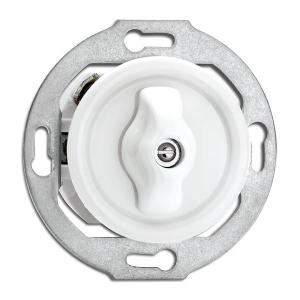 Switch round porcelain without frame - Rotary switch alternation - old fashioned style - classic interior