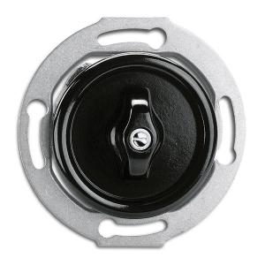 Switch round bakelite without frame - Rotary intermediate switch