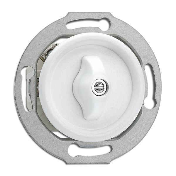 Strömbrytare insats - Vridströmbrytare (kors) duroplast - sekelskifte - gammaldags inredning - retro