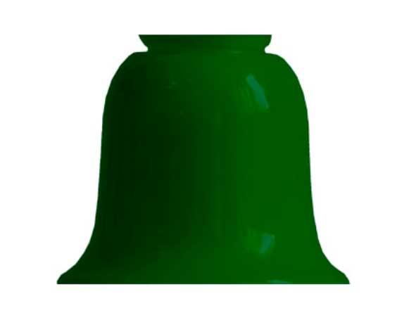 Bell shade - 110 mm green