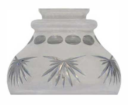 Bell shade - 60 mm Frosted cut glass