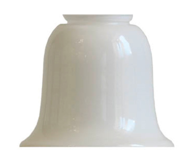 Bell shade - 100 mm Opal white