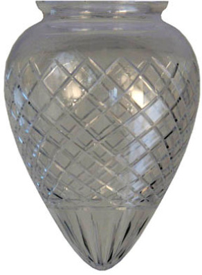 Drop shade - 80 mm Cut clear glass