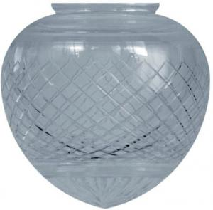 Drop shade - 100 mm Cut clear glass