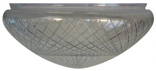Ampel glass - 300 mm Cut clear glass - old style - vintage style - classic interior