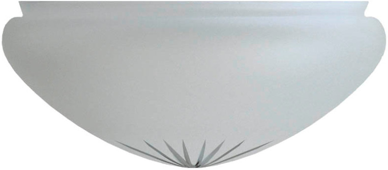 Ampel glass - 300 mm Frosted cut glass - old style - vintage style - classic interior