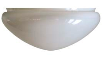 Ampel glass - 300 mm Opal white
