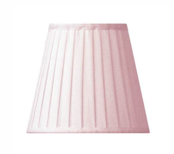 Fabric Shade 13 (Pleated / Pink / Clamp)