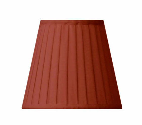 Fabric Shade 13 (Pleated / Red / Clamp)