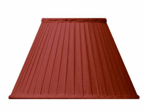 Fabric Shade 20 (Pleated / Red / Ring)