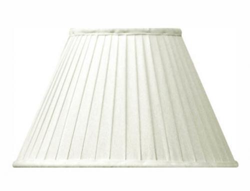 Old style lamp shade pleated fabric white - old style - vintage interior - classic interior - retro
