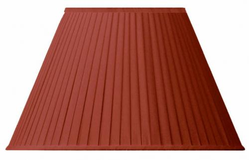 Fabric Shade 30 (Pleated / Red / Ring)