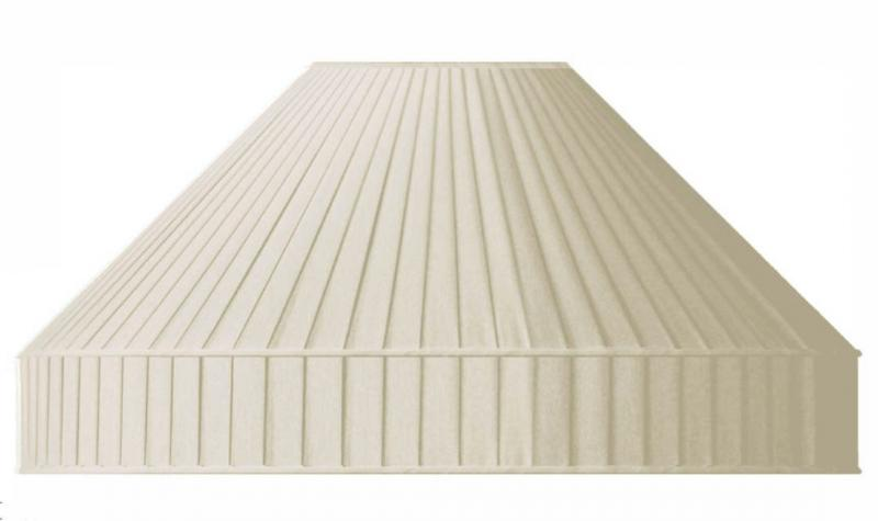 Fabric Shade 50 (Pleated / Beige / Ring)