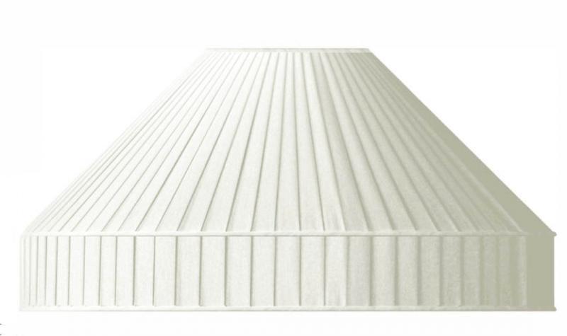Lamp shades pleated fabric white - old style - vintage interior - classic interior - retro