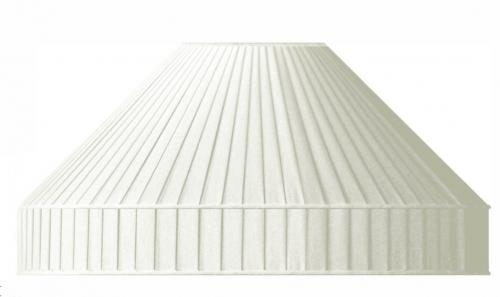 Fabric Shade 50 (Pleated / White / Ring)