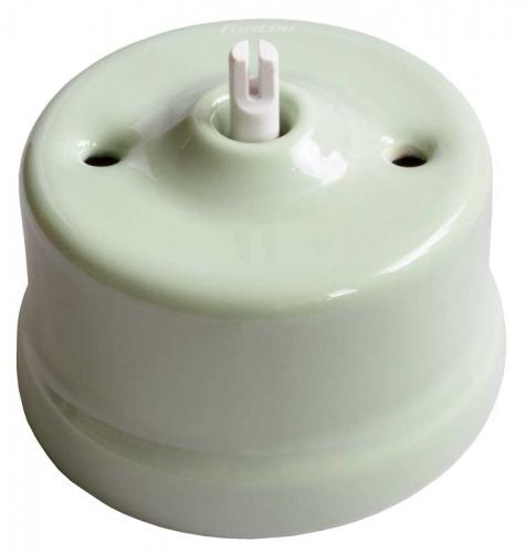Switch - Two-way switch light green porcelain surface mounted
